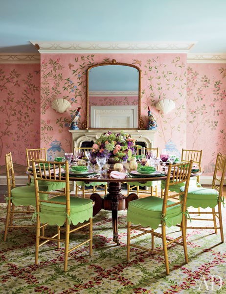 Hilary and Wilbur Ross Dining Room Southampton