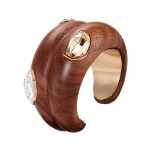 Wood Crystallized Large Cuff
