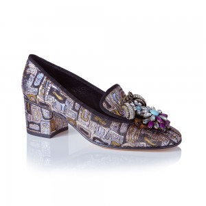 Lily Brocade Loafer