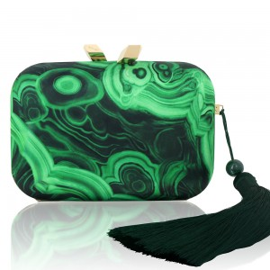 Satin Printed Malachite Framed Morley