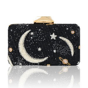 KOTUR Espey clutch with moon embellishments