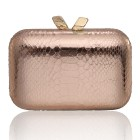 Margo Embossed Snake Rose Gold