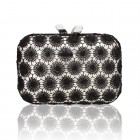 Morley Lace Overlay Black/Silver