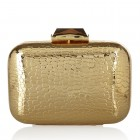 Morley Embossed Metal Croc GOLD