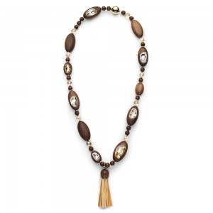 Wood Crystallized Necklace - out of stock